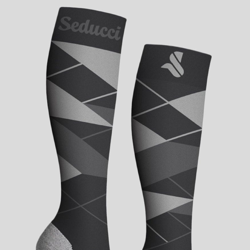 Horse Riding Socks - Argyle Ag grey zoom
