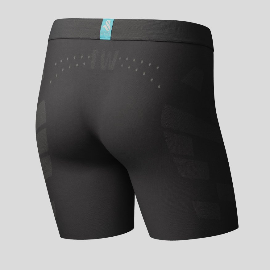 Horse riding Equestrian underwear - Breezy Boxer Jane Zero anthracite back