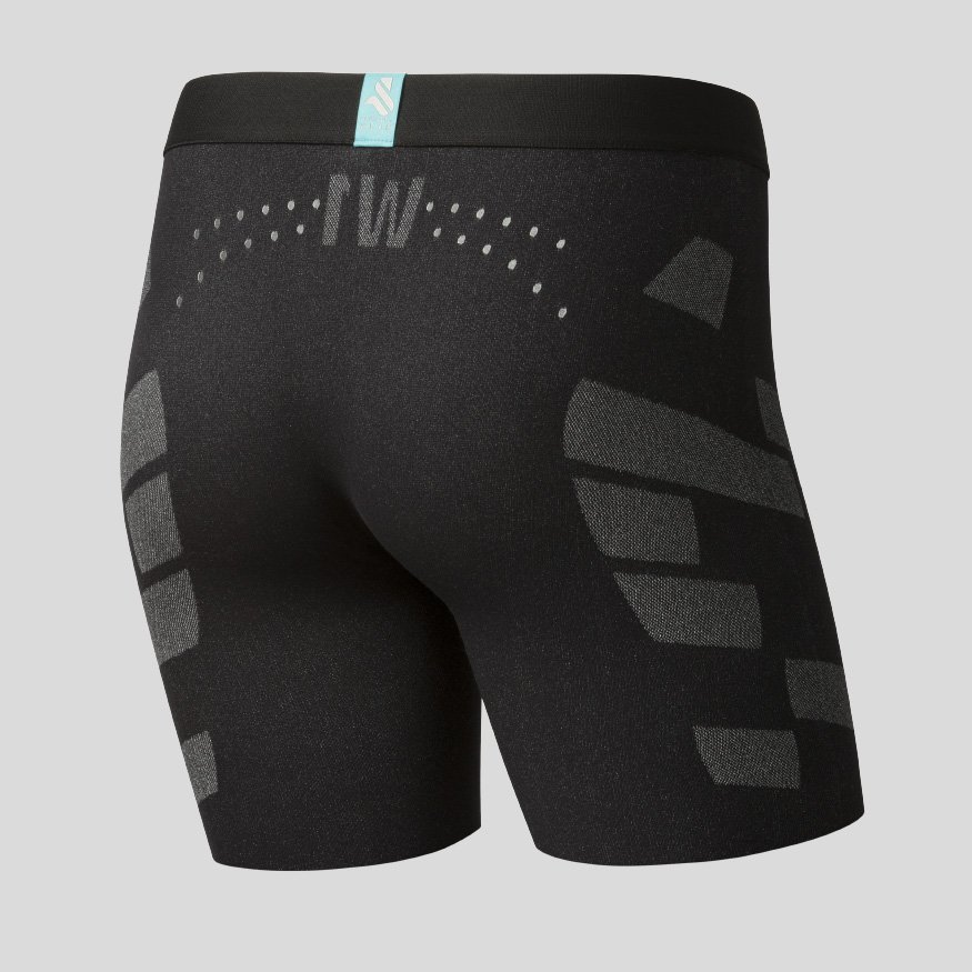 Horse riding Equestrian underwear - Breezy Boxer Jane Zero black back