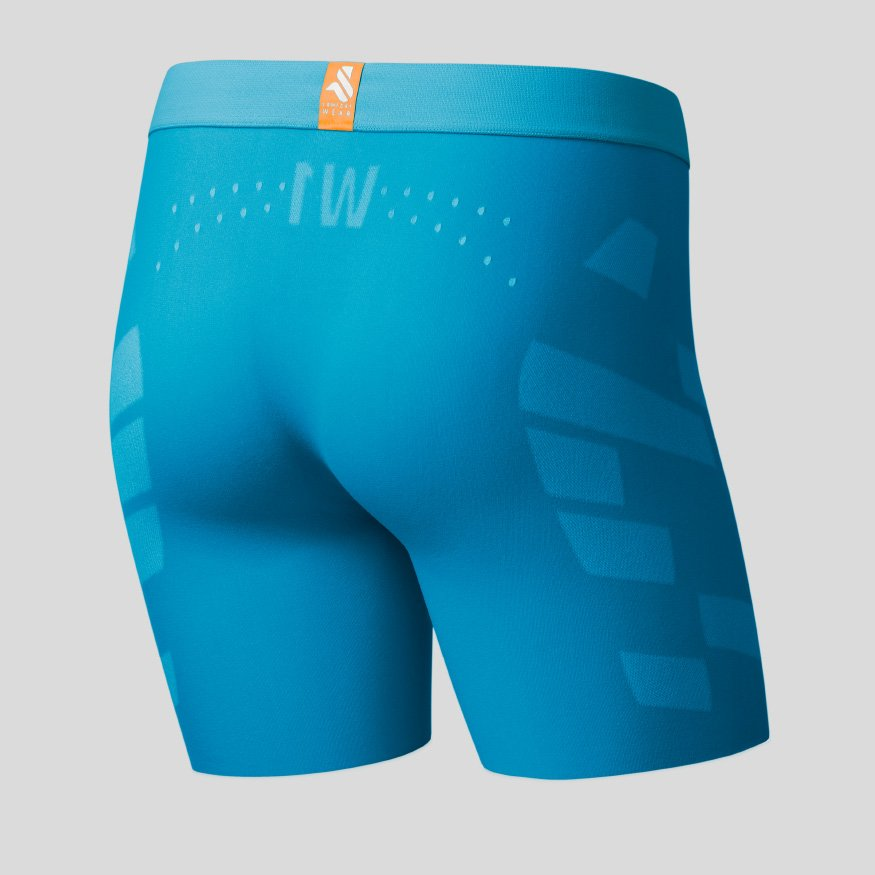 Horse riding Equestrian underwear - Breezy Boxer Jane ocean back